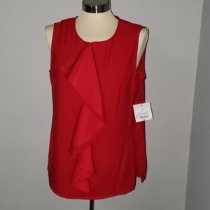 Liz Claiborne | NWT CANDY APPLE RED BLOUSE